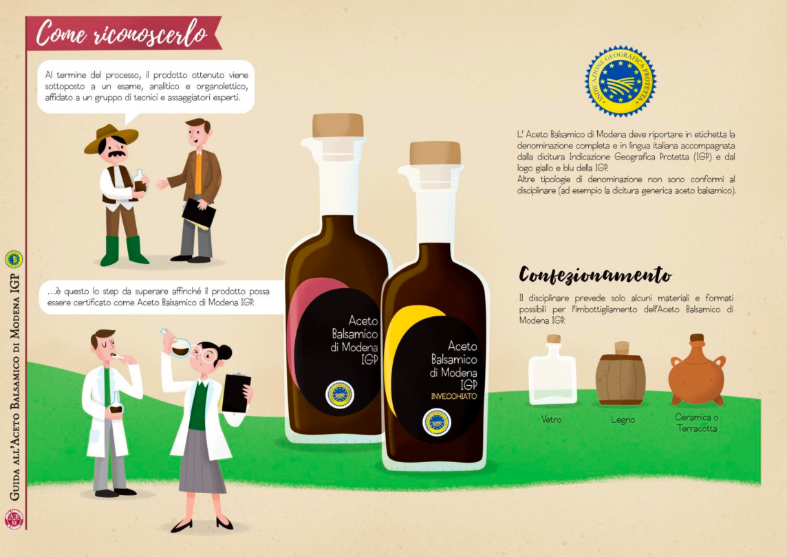 Infografica Aceto balsamico di Modena IGP